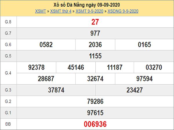 Soi cầu KQXSDN- xổ số đà nẵng thứ 7 ngày 12/09/2020 hôm nay