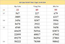 Thống kê KQXSMN 29/9/2020 chốt kết quả miền Nam siêu chuẩn