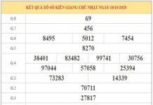 Thống kê XSKG ngày 25/10/2020 dựa trên phân tích KQXSKG kỳ trước