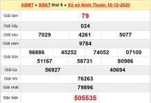 Thống kê XSNT ngày 25/12/2020