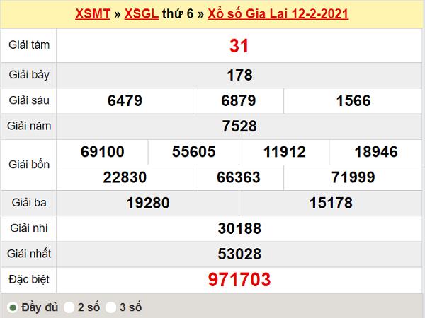 Thống kê XSGL 19/2/2021