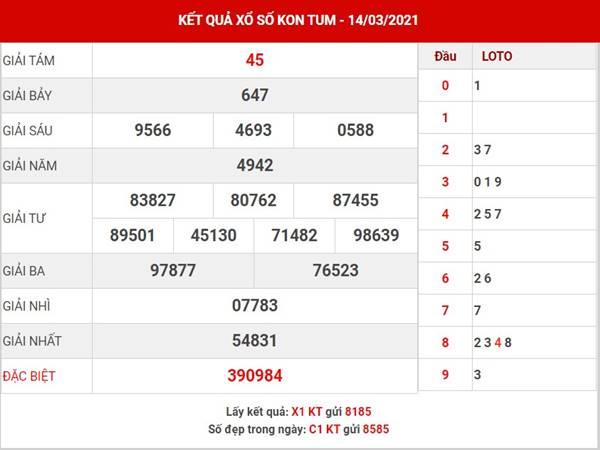 Phân tích XS Kon Tum chủ nhật ngày 14/3/2021