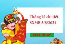 Thống kê chi tiết SXMB 3/8/2021