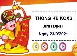 Thống kê xổ số Bình Định ngày 23/9/2021