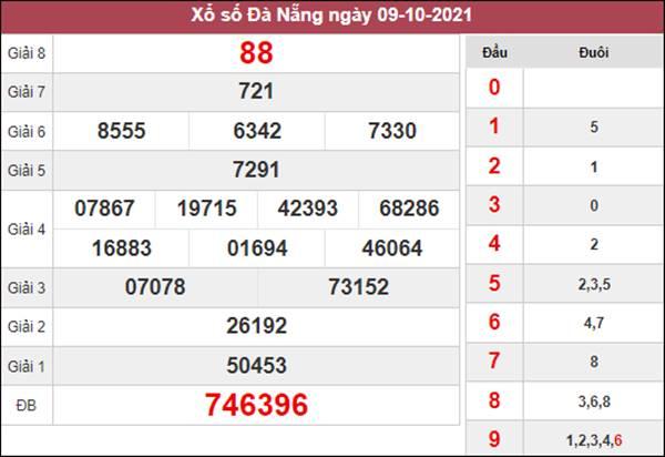 Thống kê XSDNG 13/10/2021 chốt lô đài Đà Nẵng